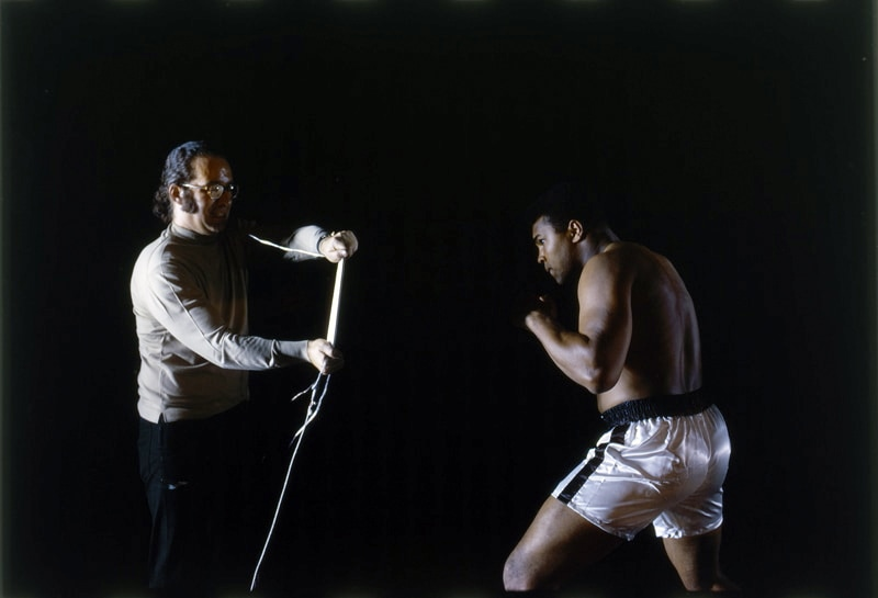 Phil Leonian and  Muhammad Ali timing punches © 1968 Phillip Leonian